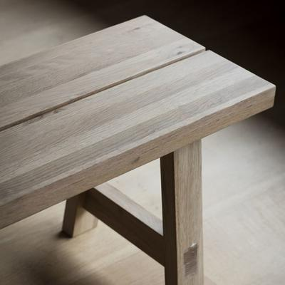 Kielder Oak Simple Wooden Bench image 4