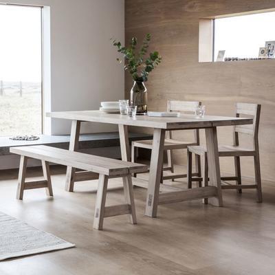 Kielder Oak Simple Wooden Bench image 5