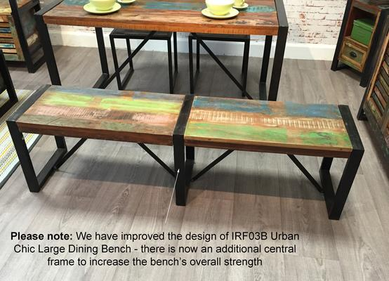 Shoreditch Rustic Dining Bench - Large