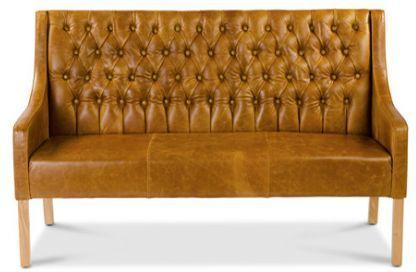 Simpson Handmade Leather Bench Buttoned image 2