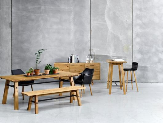 Stockhelm (Wild Oak) dining bench image 5