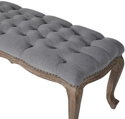 Grey Regal Buttoned Bench image 2