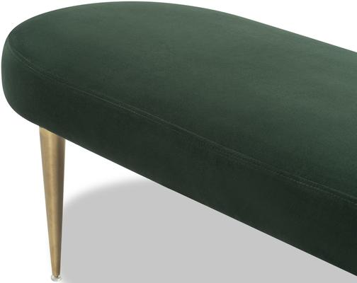 Jules Velvet Bench Green or Pebble Colour image 3