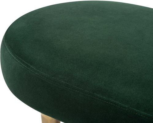 Jules Velvet Bench Green or Pebble Colour image 4