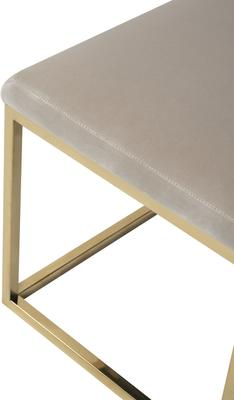 Loft Velvet and Metal Bench in Limestone or Grey image 7