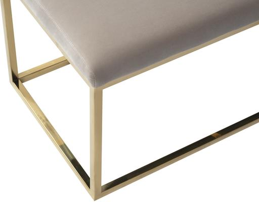 Loft Velvet and Metal Bench in Limestone or Grey image 8