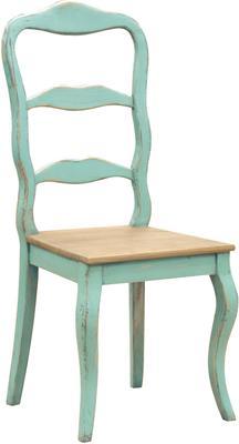 Distressed Turquoise Dining Chair French Hand-Painted