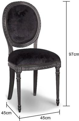 Black French Dining Chair image 2