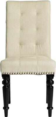 Button Back Dining Chair - Rose Pink or Beige