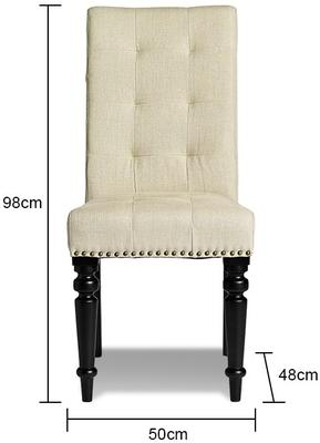 Button Back Dining Chair - Rose Pink or Beige image 2