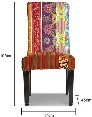Patchwork Multicoloured Dining Chair image 2