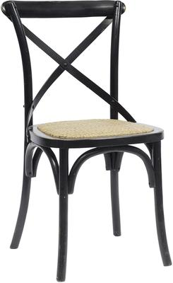 Simple Wooden Dinner Chair Distressed Finish