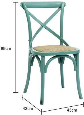 Simple Wooden Dinner Chair Distressed Finish image 2