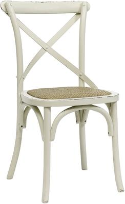 Simple Wooden Dinner Chair Distressed Finish image 3