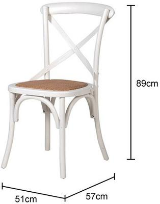 Simple Wooden Dinner Chair Distressed Finish image 7