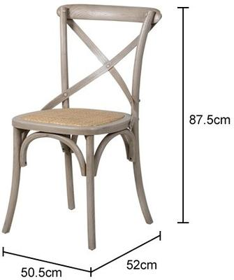 Simple Wooden Dinner Chair Distressed Finish image 9