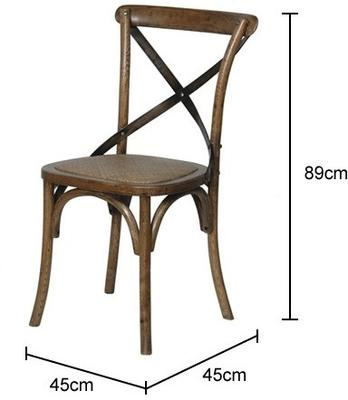 Simple Wooden Dinner Chair Distressed Finish image 11