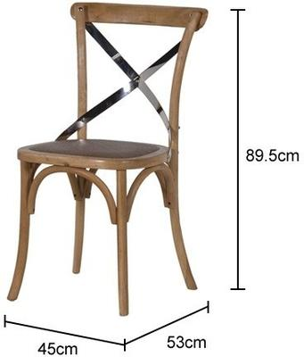 Simple Wooden Dinner Chair Distressed Finish image 13