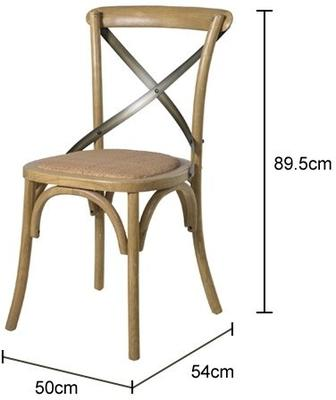 Simple Wooden Dinner Chair Distressed Finish image 17