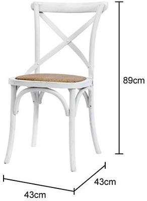 Simple Wooden Dinner Chair Distressed Finish image 19