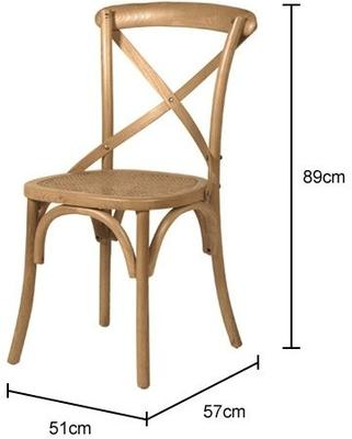 Simple Wooden Dinner Chair Distressed Finish image 21
