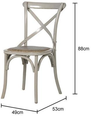 Simple Wooden Dinner Chair Distressed Finish image 26
