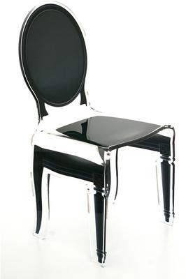 Acrylic Dining Chair Clear French-Style image 2