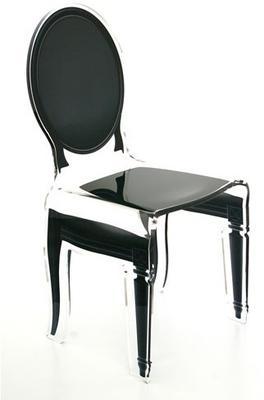 Acrylic Dining Chair Clear French-Style image 3