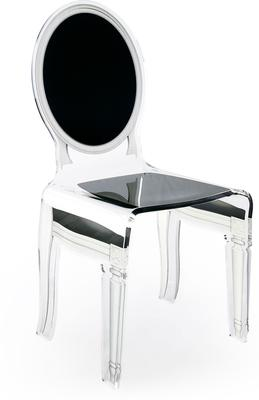 Acrylic Dining Chair Clear French-Style image 4