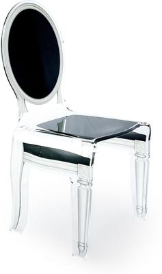 Acrylic Dining Chair Clear French-Style image 5