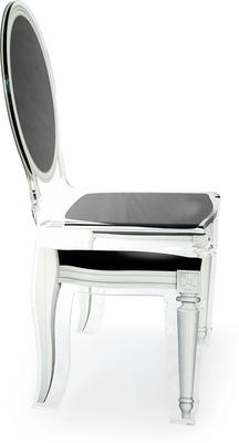 Acrylic Dining Chair Clear French-Style image 6