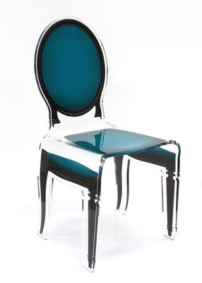 Acrylic Dining Chair Clear French-Style image 7