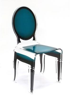 Acrylic Dining Chair Clear French-Style image 8
