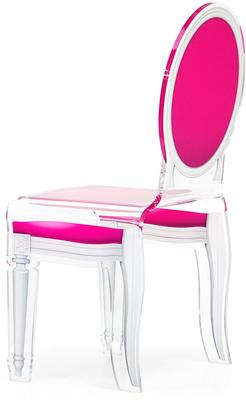 Acrylic Dining Chair Clear French-Style image 10