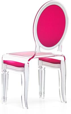 Acrylic Dining Chair Clear French-Style image 22
