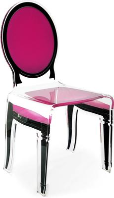 Acrylic Dining Chair Clear French-Style image 12