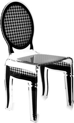 Acrylic Dining Chair Clear French-Style image 16