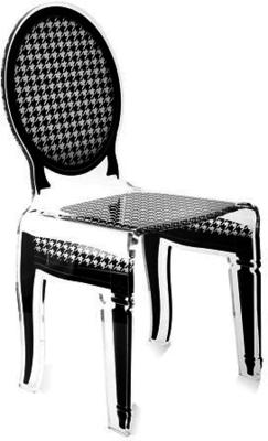 Acrylic Dining Chair Clear French-Style image 17