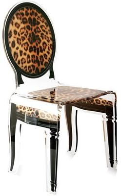 Acrylic Dining Chair Clear French-Style image 19