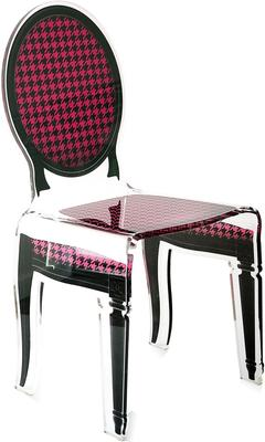 Acrylic Dining Chair Clear French-Style image 20
