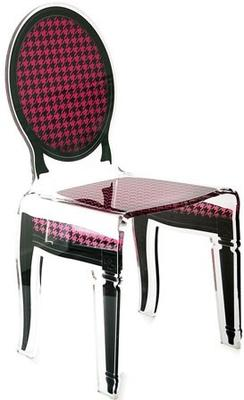 Acrylic Dining Chair Clear French-Style image 21