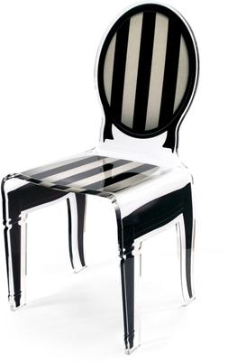 Acrylic Dining Chair Clear French-Style