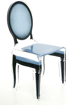 Acrylic Dining Chair Clear French-Style image 24