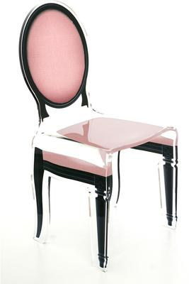 Acrylic Dining Chair Clear French-Style image 27