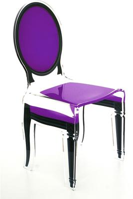 Acrylic Dining Chair Clear French-Style image 28