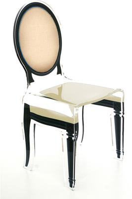 Acrylic Dining Chair Clear French-Style image 29