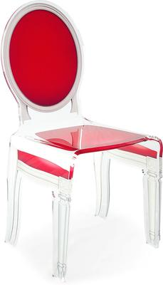 Acrylic Dining Chair Clear French-Style image 41