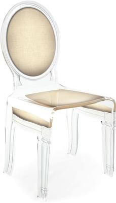 Acrylic Dining Chair Clear French-Style image 44