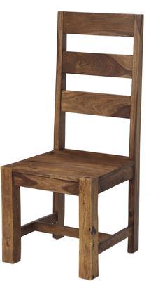 Zen Natural Sheesham Dining Chair Pair