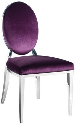 Purple Silver Leaf Dining Chair